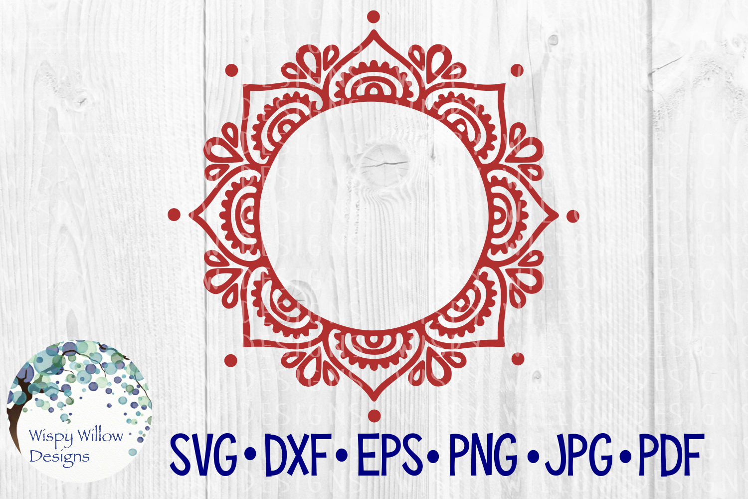 Download Free Mandala Craft File Graphic By Wispywillowdesigns Creative Fabrica for Cricut Explore, Silhouette and other cutting machines.