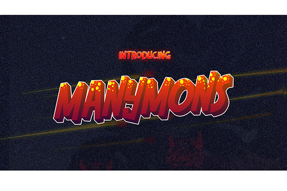 Print on Demand: Manymons Sans Serif Font By brnk1314