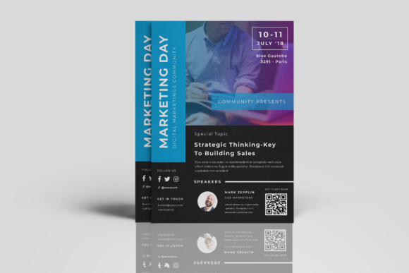 Marketing Flyer Events Graphic Print Templates By TMint