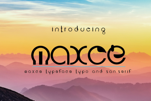Print on Demand: Maxce Display Font By jehansyah251
