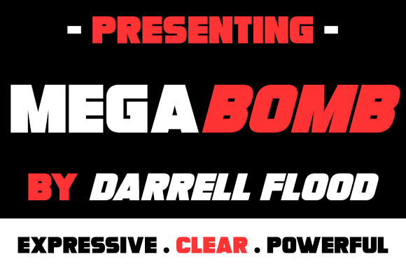 Print on Demand: Megabomb Sans Serif Font By Dadiomouse