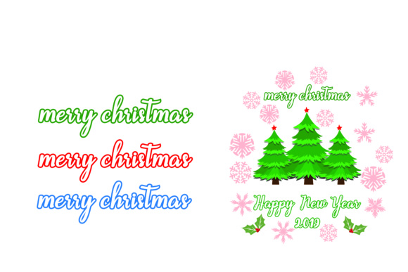 Download Free Merry Christmas Happy New Year 2019 Svg Cut File Graphic By for Cricut Explore, Silhouette and other cutting machines.