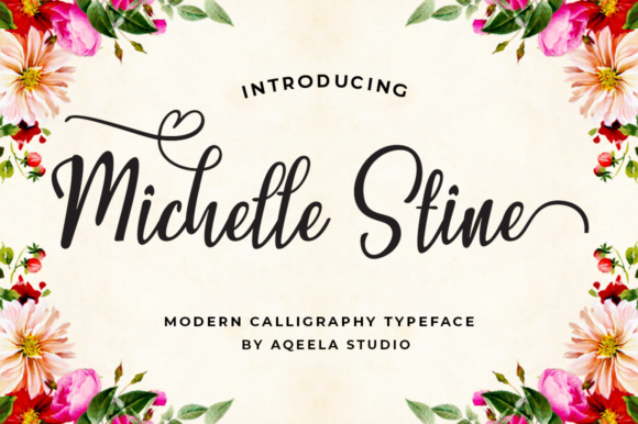Print on Demand: Michelle Stine Script Script & Handwritten Font By Aqeela Studio