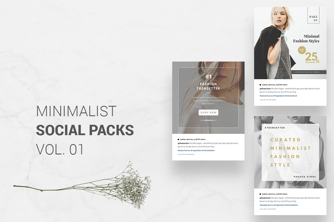 Download Free Minimalist Social Packs Extra Bonus Graphic By Collectype Creative Fabrica for Cricut Explore, Silhouette and other cutting machines.