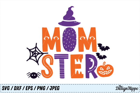 Download Free Momster Halloween Graphic By Thedesignhippo Creative Fabrica for Cricut Explore, Silhouette and other cutting machines.