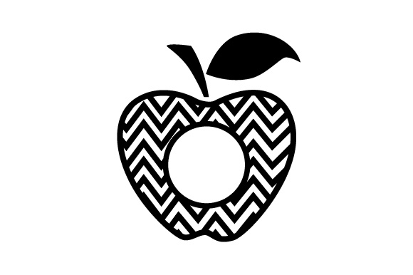 Download Free Monogram Frame Apple Pattern Svg Cut File By Creative Fabrica SVG Cut Files