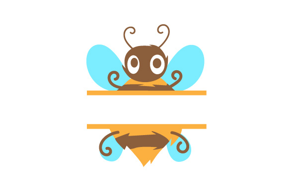 Download Free Monogram Frame Bumble Bee Svg Cut File By Creative Fabrica for Cricut Explore, Silhouette and other cutting machines.