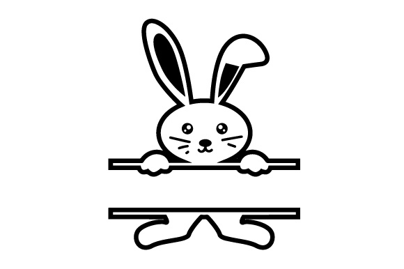 Download Free Monogram Frame Bunny Svg Cut File By Creative Fabrica Crafts for Cricut Explore, Silhouette and other cutting machines.