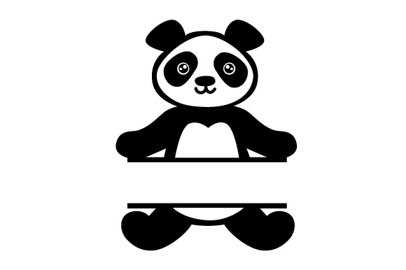 Download Free Monogram Frame Panda Svg Cut File By Creative Fabrica Crafts for Cricut Explore, Silhouette and other cutting machines.