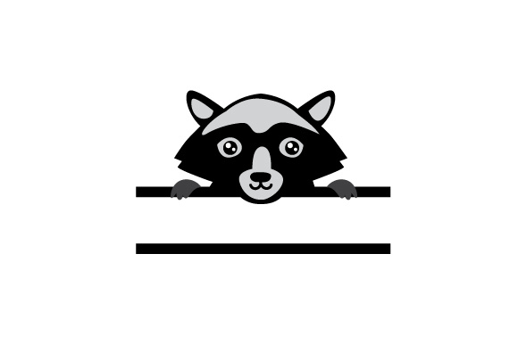 Download Free Monogram Frame Racoon Svg Cut File By Creative Fabrica Crafts for Cricut Explore, Silhouette and other cutting machines.
