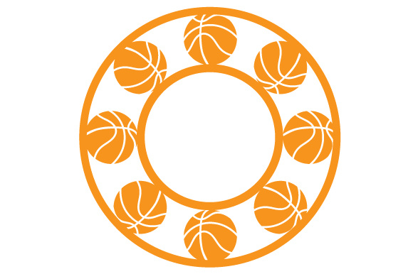 Monogram Frame Basketball Monogram Frames Craft Cut File By Creative Fabrica Crafts