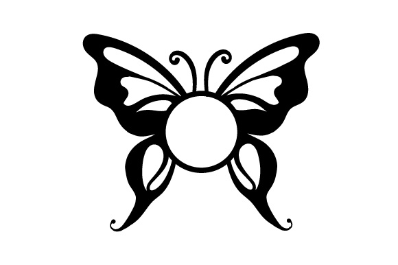 Download Free Monogram Frame Butterfly Svg Cut File By Creative Fabrica Crafts for Cricut Explore, Silhouette and other cutting machines.