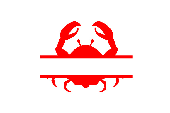 Download Free Monogram Frame Crab Svg Cut File By Creative Fabrica Crafts for Cricut Explore, Silhouette and other cutting machines.
