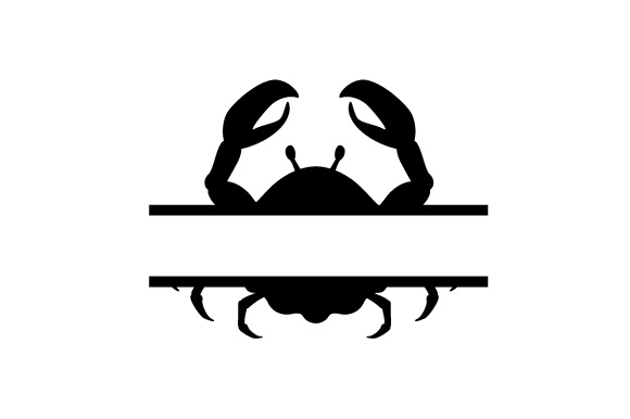 Monogram Frame Crab Svg Cut File By Creative Fabrica Crafts