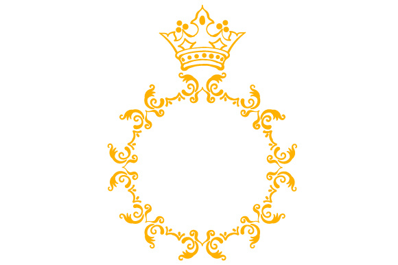 Download Free Monogram Frame Crown Svg Cut File By Creative Fabrica Crafts for Cricut Explore, Silhouette and other cutting machines.