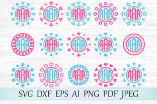 Download Free Monogram Frames Graphic By Magicartlab Creative Fabrica for Cricut Explore, Silhouette and other cutting machines.
