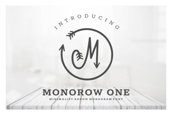 Print on Demand: Monorow Script & Handwritten Font By Dani (7NTypes)
