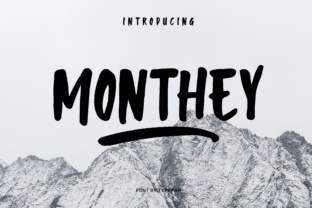 Monthey Font By Typefar