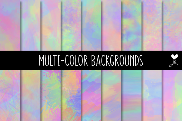 Print on Demand: Multi-color Backgrounds Graphic Textures By JulieCampbellDesigns