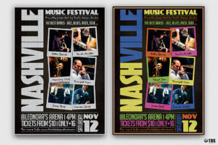 Music Festival Flyer Template V12 Graphic Print Templates By ThatsDesignStore