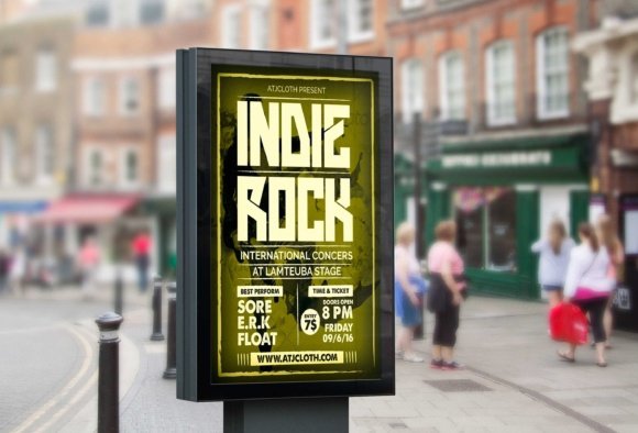 Print on Demand: Music Flyers - Indie Rock Graphic Print Templates By Atjcloth Studio