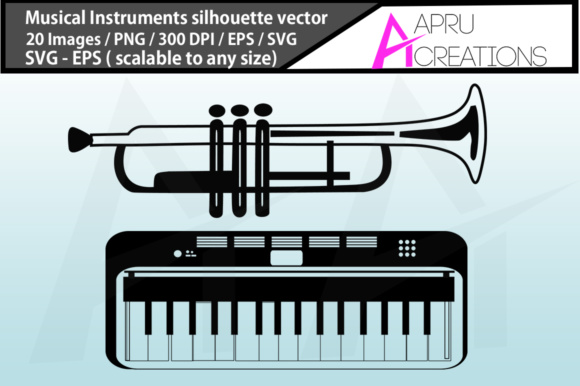 Musical Instruments Silhouette Graphic By aparnastjp Image 3