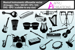 Musical Instruments Silhouette Graphic By aparnastjp