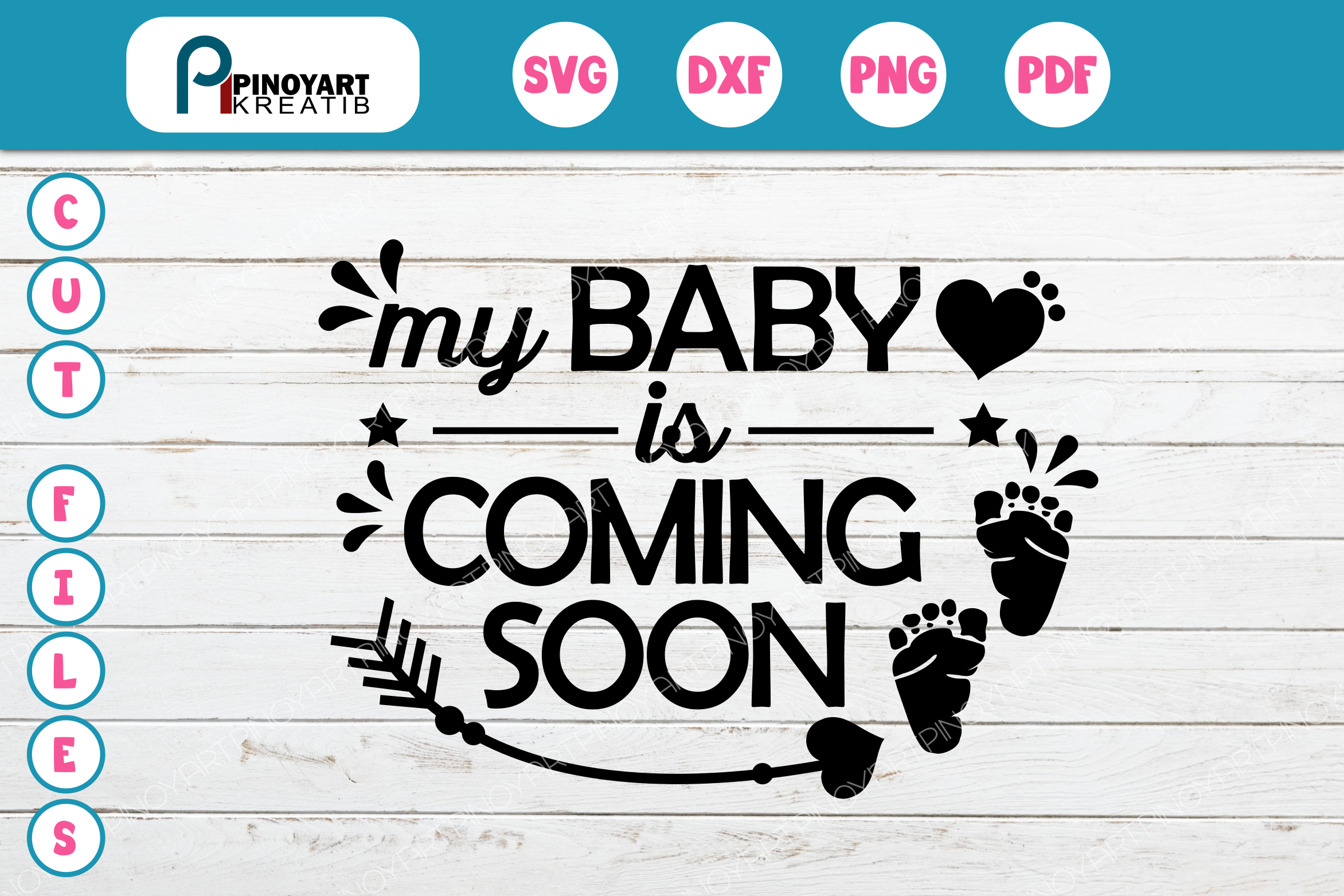 Download Free My Baby Is Coming Soon Graphic By Pinoyartkreatib Creative Fabrica for Cricut Explore, Silhouette and other cutting machines.