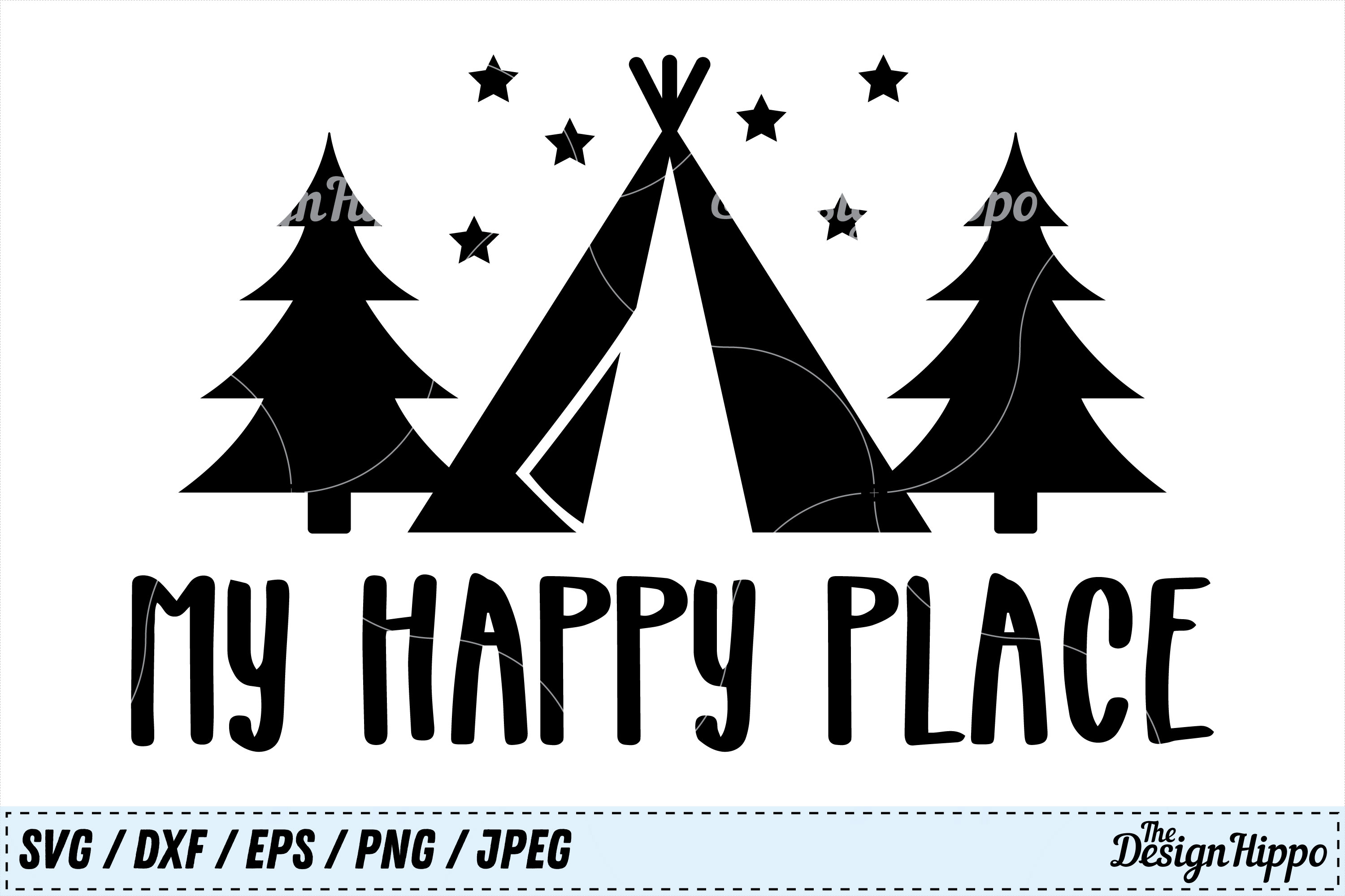 Download Free My Happy Place Svg Graphic By Thedesignhippo Creative Fabrica for Cricut Explore, Silhouette and other cutting machines.