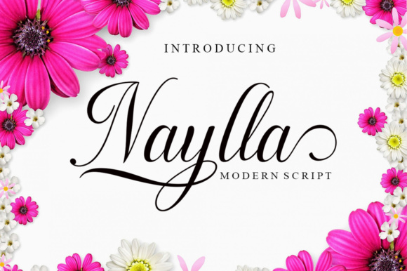 Print on Demand: Naylla Script & Handwritten Font By ayeelastudio