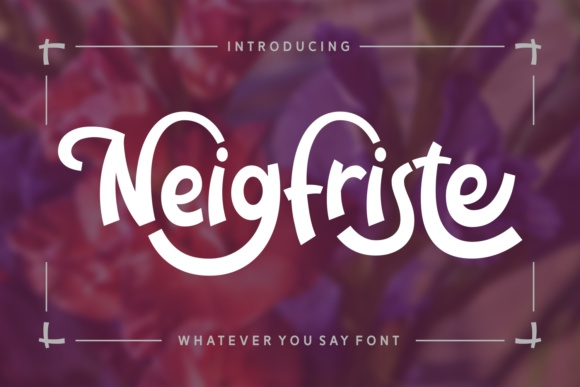 Print on Demand: Neigfriste Display Font By Rifki (7ntypes) - Image 1