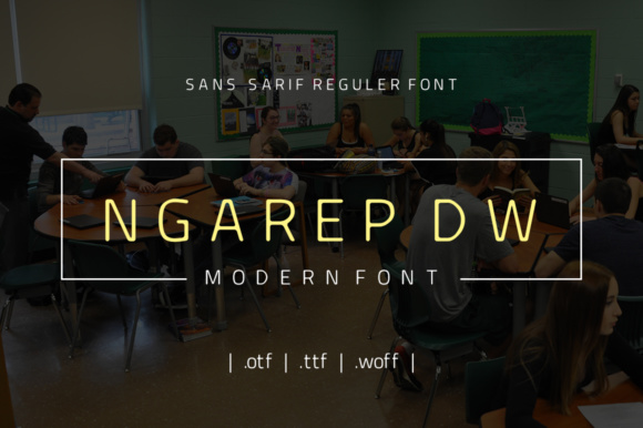 Print on Demand: Ngarep DW Sans Serif Font By yantodesign