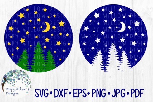 Download Free Night Sky Craft File Graphic By Wispywillowdesigns Creative SVG Cut Files