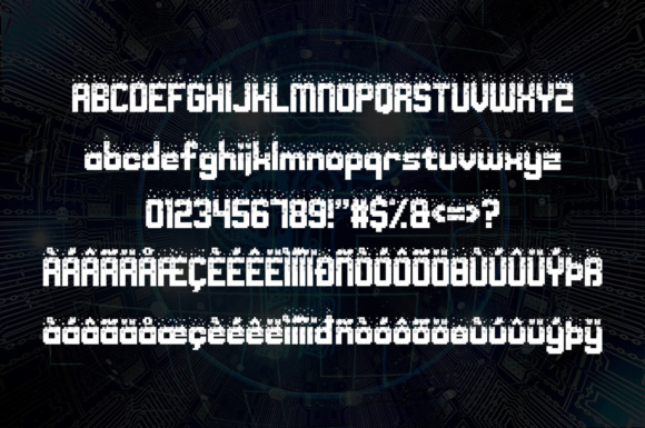Print on Demand: Nightmare Codehack Display Font By Chequered Ink - Image 2