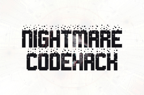 Print on Demand: Nightmare Codehack Display Font By Chequered Ink