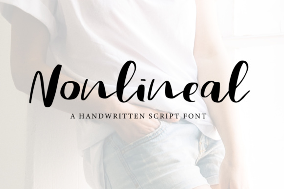Print on Demand: Nonlineal Script & Handwritten Font By PaulaType