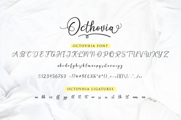 Print on Demand: Octhovia Duo Script & Handwritten Font By Weape Design - Image 8