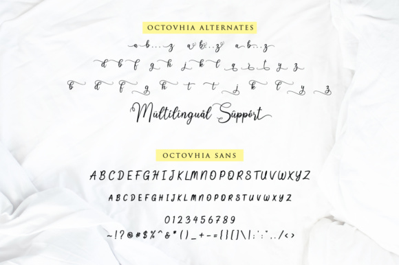 Print on Demand: Octhovia Duo Script & Handwritten Font By Weape Design - Image 9