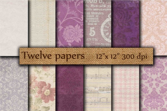 Old Wallpaper Digital Graphic Backgrounds By twelvepapers