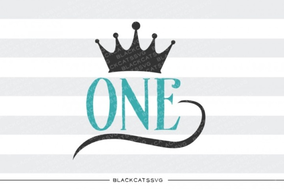 One Crown Svg Graphic Crafts By BlackCatsMedia
