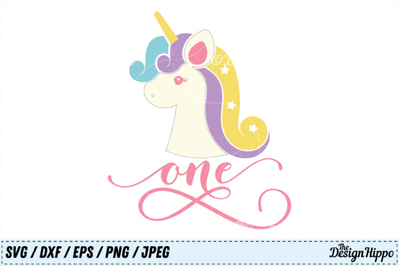 One Unicorn Birthday SVG Graphic Crafts By thedesignhippo
