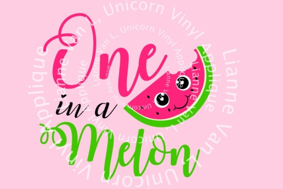 Download Free One In A Melon First Birthday Cutfile Grafico Por Unicorn for Cricut Explore, Silhouette and other cutting machines.