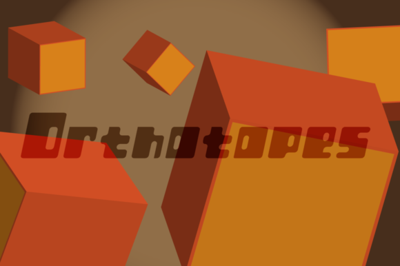 Print on Demand: Orthotopes Display Font By Megami Studios