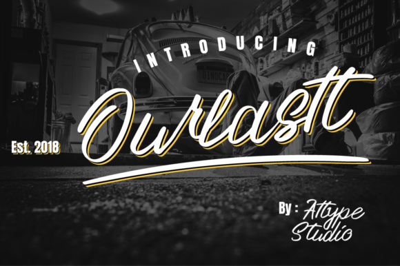 Print on Demand: Ourlastt Script & Handwritten Font By attypestudio