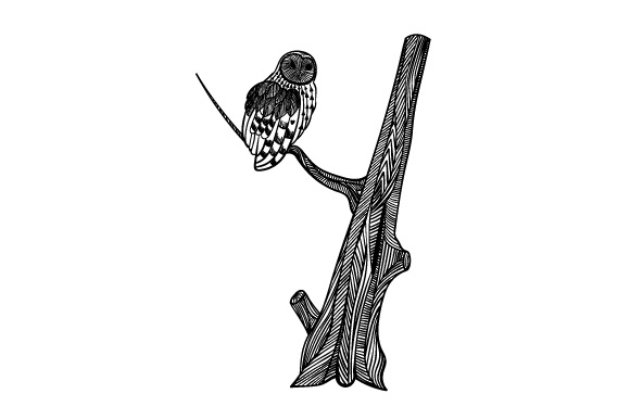 Download Free Owl On Tree Svg Cut File By Creative Fabrica Crafts Creative for Cricut Explore, Silhouette and other cutting machines.