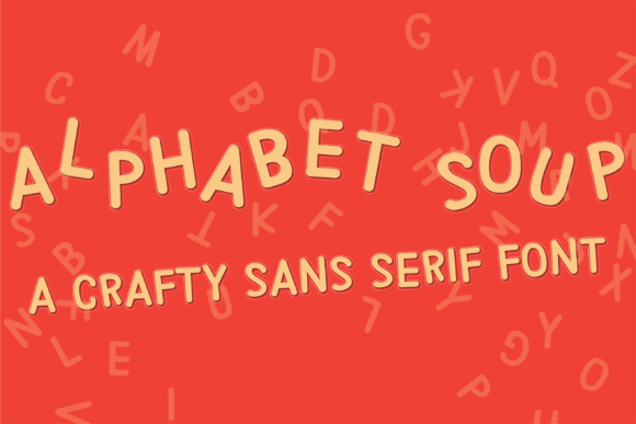 Print on Demand: PN Alphabet Soup Sans Serif Font By Illustration Ink