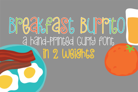 Print on Demand: PN Breakfast Burrito Script & Handwritten Font By Illustration Ink - Image 1