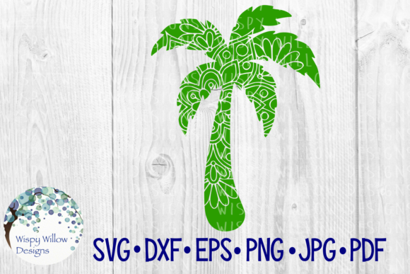 Download Free Palm Tree Mandala Graphic By Wispywillowdesigns Creative Fabrica for Cricut Explore, Silhouette and other cutting machines.