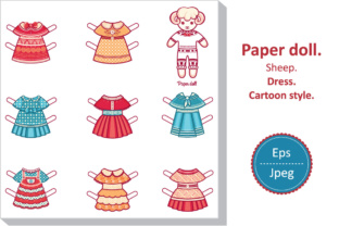 Print on Demand: Paper Doll Dress, Cartoon Style Graphic Crafts By zoyali