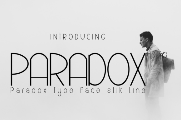 Print on Demand: Paradox Sans Serif Font By jehansyah251